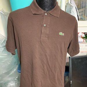 Men's Lacoste polo size 5 brown